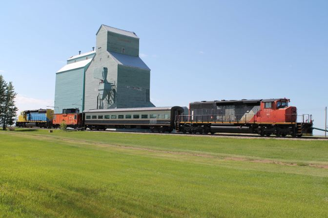Rural Alberta Royalty rides the rails…